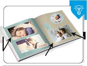 כשמעצבים אלבום דיגיטלי מומלץ לא למקם תמונות בסמוך לשולי העמוד